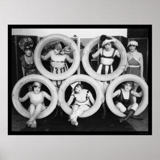 Mack Sennett que baña las bellezas 1922 Impresiones