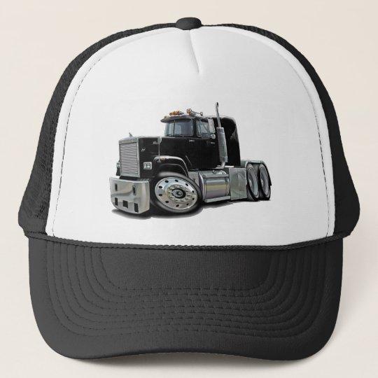 847f0706 Mack Superliner Black Truck Trucker Hat   Zazzle.com