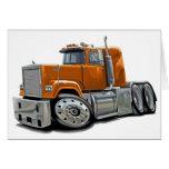 Mack Superliner Orange Truck Greeting Cards
