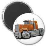 Mack Superliner Orange Truck Refrigerator Magnet