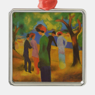 Mack: Woman in a Green Jacket Christmas Ornament