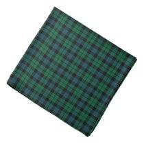 MacKay Clan Green and Blue Scottish Tartan Bandana