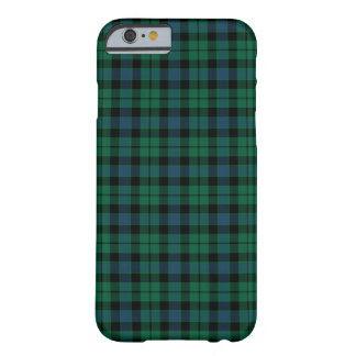 MacKay Clan Green, Blue and Black Tartan Barely There iPhone 6 Case