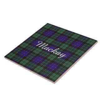 Mackay clan Plaid Scottish tartan Ceramic Tile