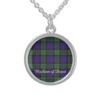 Mackay clan Plaid Scottish tartan Sterling Silver Necklaces