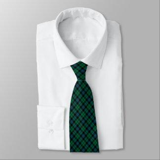 MacKay Clan Tartan Bright Green and Blue Plaid Neck Tie