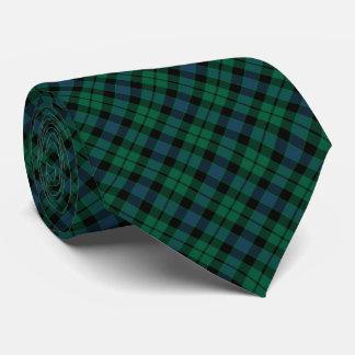 MacKay Clan Tartan Bright Green and Blue Plaid Tie