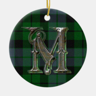 MacKay Plaid Monogram ornament