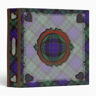 Mackay Scottish clan tartan - Plaid 3 Ring Binder