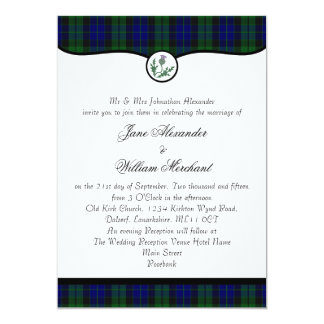MacKay Tartan Plaid & Thistle Wedding Invitation