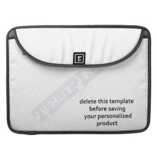 Mackbook sleeve template