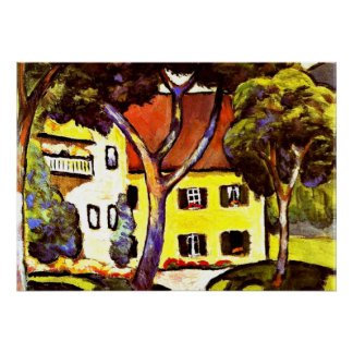 Macke - Staudacher's House at Tegernsee Poster
