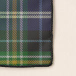 """MacKellar Tartan Chiffon Scarf<br><div class=""""desc"""">Wear a bit of tartan with this pretty chiffon scarf with the classic green,  blue,  yellow,  black and white clan MacKellar plaid pattern.  Customize to add text to this great scarf.</div>"""