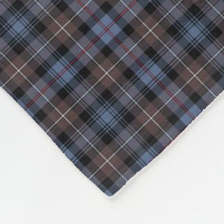 Mackenzie Clan Brown and Blue Reproduction Tartan Fleece Blanket