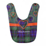 Mackenzie clan Plaid Scottish tartan Baby Bib