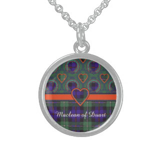 Mackenzie clan Plaid Scottish tartan Sterling Silver Necklace