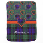 Mackenzie clan Plaid Scottish tartan Swaddle Blanket