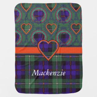 Mackenzie clan Plaid Scottish tartan Swaddle Blanket