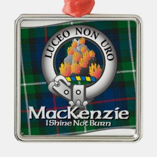 Mackenzie Clan Square Metal Christmas Ornament