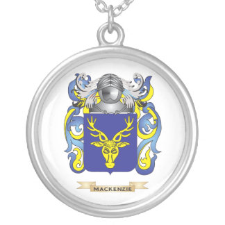 MacKenzie Coat of Arms (Family Crest) Silver Plated Necklace
