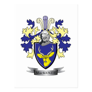 MacKenzie Family Crest Coat of Arms Postcard