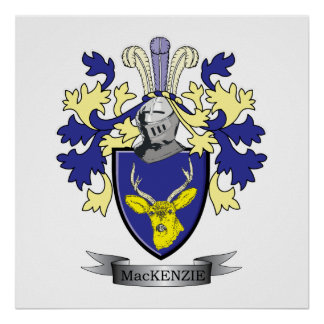 MacKenzie Family Crest Coat of Arms Poster