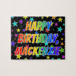 "[ Thumbnail: ""Mackenzie"" First Name, Fun ""Happy Birthday"" Jigsaw Puzzle ]"