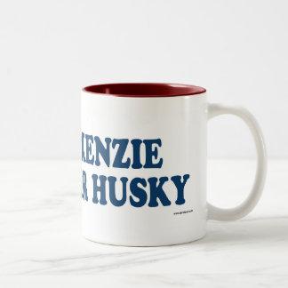 Mackenzie River Husky Blue Two-Tone Coffee Mug