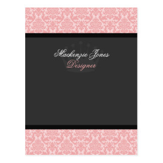 Mackenzie tarjeta elegante del arco del damasco ro tarjetas postales
