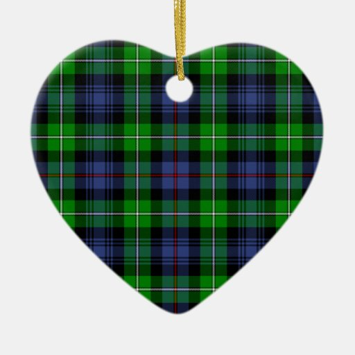 MacKenzie Tartan Double-Sided Ceramic Christmas Ornament