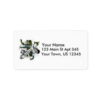 MacKenzie Tartan Lion Custom Address Labels