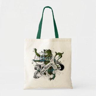 MacKenzie Tartan Lion Tote Bag
