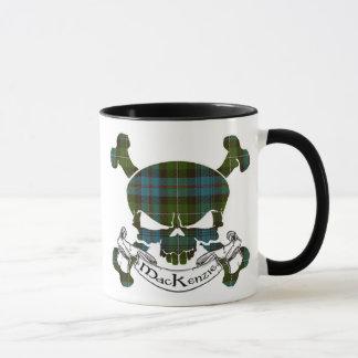 MacKenzie Tartan Skull Mug