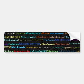 Mackenzie Text Design I Bumper Sticker