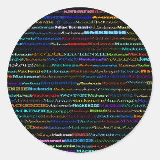 Mackenzie Text Design I Sticker