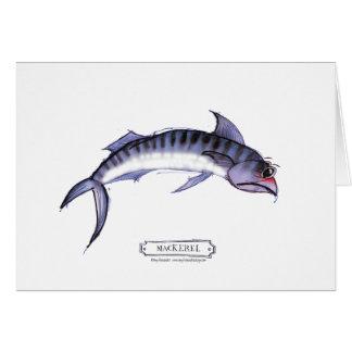 Mackerel fish, tony fernandes greeting card