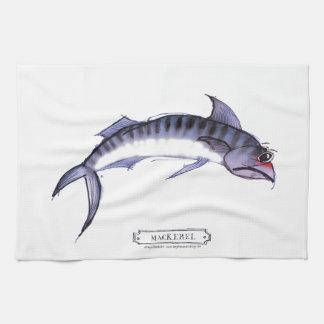Mackerel fish, tony fernandes hand towel