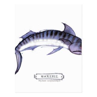 Mackerel fish, tony fernandes postcard