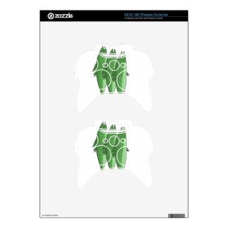 Mackerel - green xbox 360 controller skin