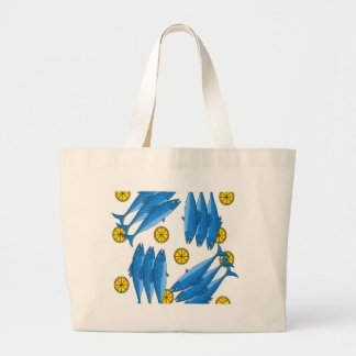 Mackerel meal 2 large tote bag