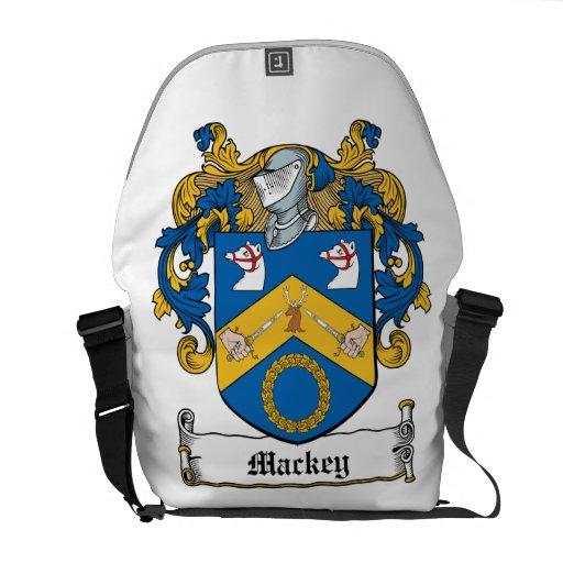 Mackey Family Crest Messenger Bags