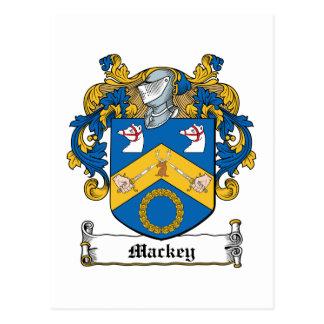 Mackey Family Crest Postcard