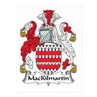 MacKilmartin Family Crest Postcard