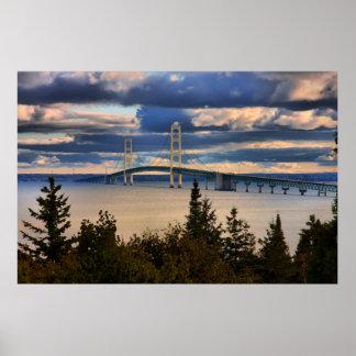 Mackinac Bridge #1060 Poster