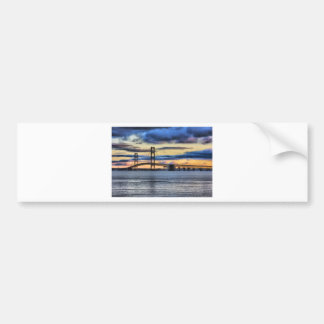 Mackinac  Bridge 1155 Blue Bumper Sticker