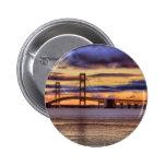 Mackinac Bridge 1155 Gold 2 Inch Round Button