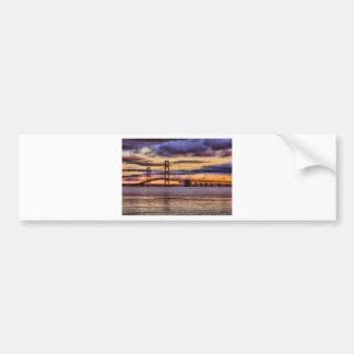 Mackinac Bridge 1155 Gold Car Bumper Sticker