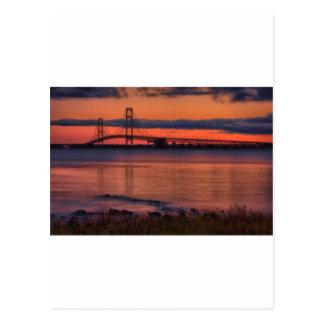Mackinac Bridge 1222 Postcard
