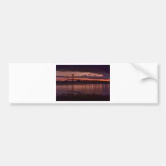 Mackinac Bridge 1240-2 Car Bumper Sticker