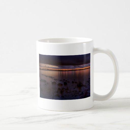 Mackinac Bridge 1243 Gold Coffee Mug